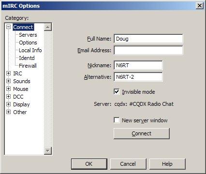 CQDX IRC Software Configuration